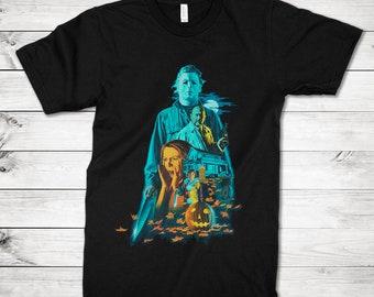 93edf0c0 Halloween 1978 T-Shirt, Michael Myers Horror Movie Tee, Men's Women's All  Sizes