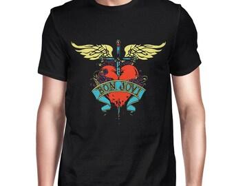 857922bd7 Bon Jovi Logo T-Shirt, Rock Shirt, Men's Women's All Sizes