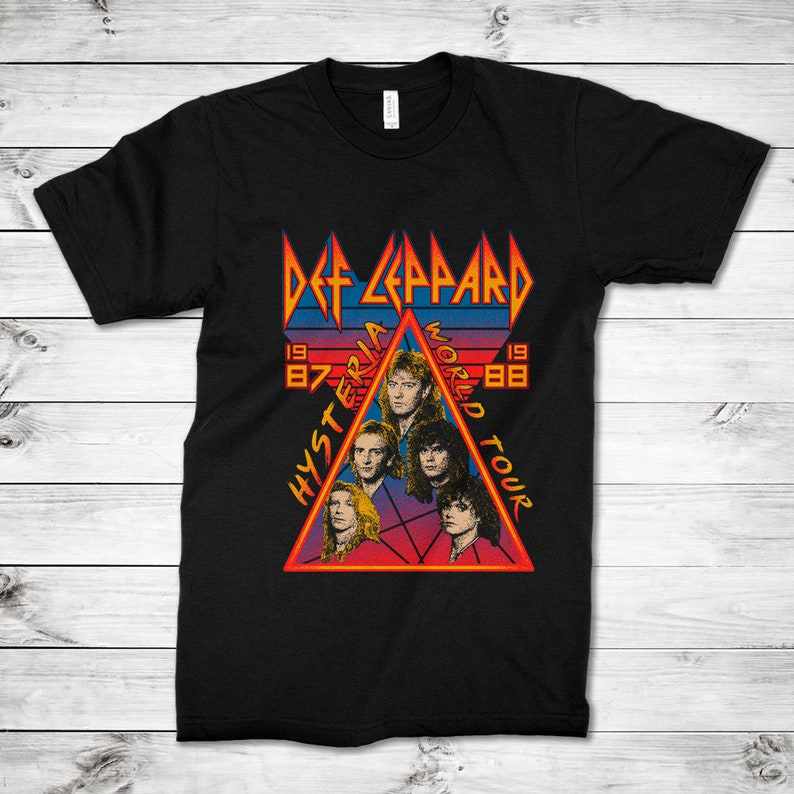 Hysteria World Tour 87-88 T-shirt, Available for Men or Women