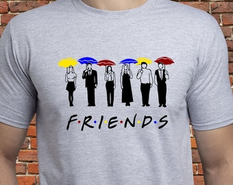 f8e205d76 Friends Tv Show shirt/ Friends TV umbrellas shirt/ Friends t-shirt/ Friends  Tv series tee/ mens shirt/ for men/ for man/ Ross/ Joey/ (A55)