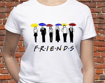 0fe42ae0b Friends Tv Show shirt/ Friends TV umbrellas shirt/ Friends t-shirt/ Friends  Tv series tee/ womens shirt/ for women/ for man/ Gift for/ (A55)