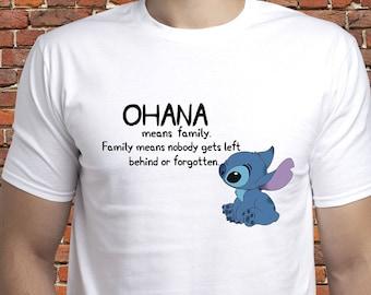 c1f1d01497 Stitch shirt/ Ohana Means Family tshirt/ Stitch Ohana t shirt/ Lilo and  Stitch/ Ohana tee/ Stitch t shirt/ Ohana shirt/ Family tshirt/ (A16)