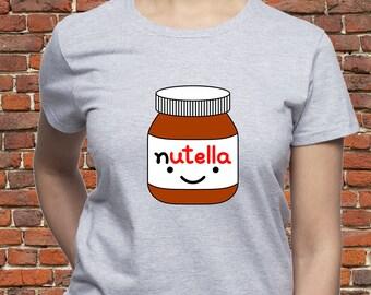 Nutella Chocolate Hazelnut Spread lady/'s tunic damen top shirt loose fit t-shirt