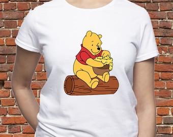 19ee249d9ac42 Winnie tshirt  Winnie the Pooh shirt  Pooh t shirt  Winnie the Pooh Honey  Pot  Disney Winnie-the-Pooh  womens t-shirt  women shirt  (A11)