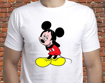 b4db5159 Shy Mickey Mouse shirt/ Mickey Mouse tshirt/ Mickey t-shirt/ Disney Mickey  Mouse shirt/ Mickey tee/ mens shirt/ for men/ gift for man/ (A48)