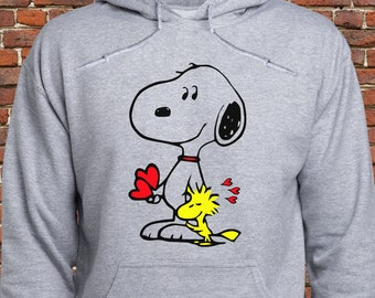0d64a23f0102c1 Snoopy Love Woodstock sweatshirt  Snoopy Woodstock hoodie  The Peanuts  pullover  Friends hoodie  Snoopy  Woodstock  jumper  sweater  (A65)