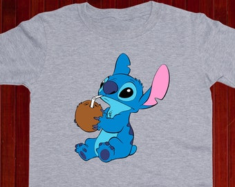 bc09cc0d Cute Stitch Youth shirt/ Stitch cocktail Toddler shirt/ Funny Stitch t shirt/  Lilo and Stitch gift/ Hawaiian tee/ For Boy/ For Girl/ (A19)
