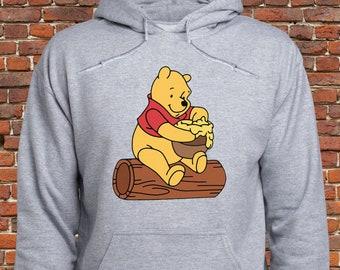 b951f9771 Winnie the Pooh Honey Pot hoodie/ Winnie the Pooh sweatshirt/ Pooh Bear  pullover/ Disney Winnie-the-Pooh/ Sweater/ jumper/ Cute hoody/ (A11)