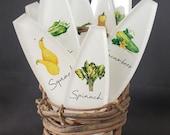Vegetable Garden Markers - Acrylic Garden Stakes - Watercolor Veggies - Garden Projects - Garden Gifts - Garden Art - Vegetables - Gift Set