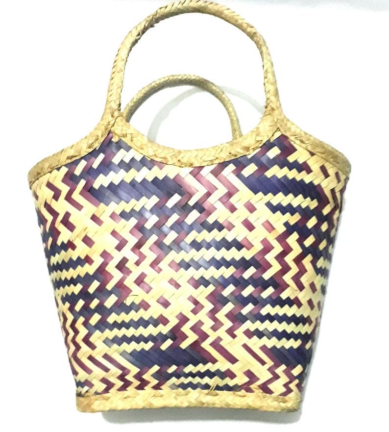 Weaved Natural Fiber African Basket Tanzania Gift Day Hamper Basket for- food,picnic,baby stuff,cloth fashion show! HandmadeHandwoven