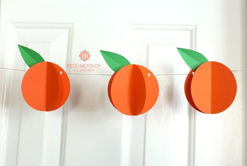 Orange Garland  Orange Banner  Cutie Garland  Cutie Banner  Clementine Banner  Orange Bunting  Clementine Garland  Main Squeeze