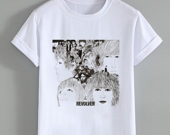 f5086e0b0 The Beatles REVOLVER Album Cover . The Beatles . Band T Shirt . Tops and  Tees . Unisex Adult Clothing . Hypebeast . Streetwear