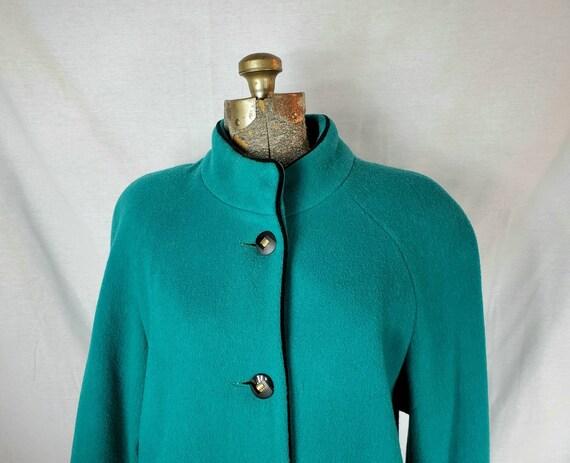 Vintage 80s Projections Ltd. Women's Teal Green Ba