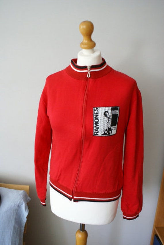 Vintage Bomber Jacket with The Ramones Patch, The