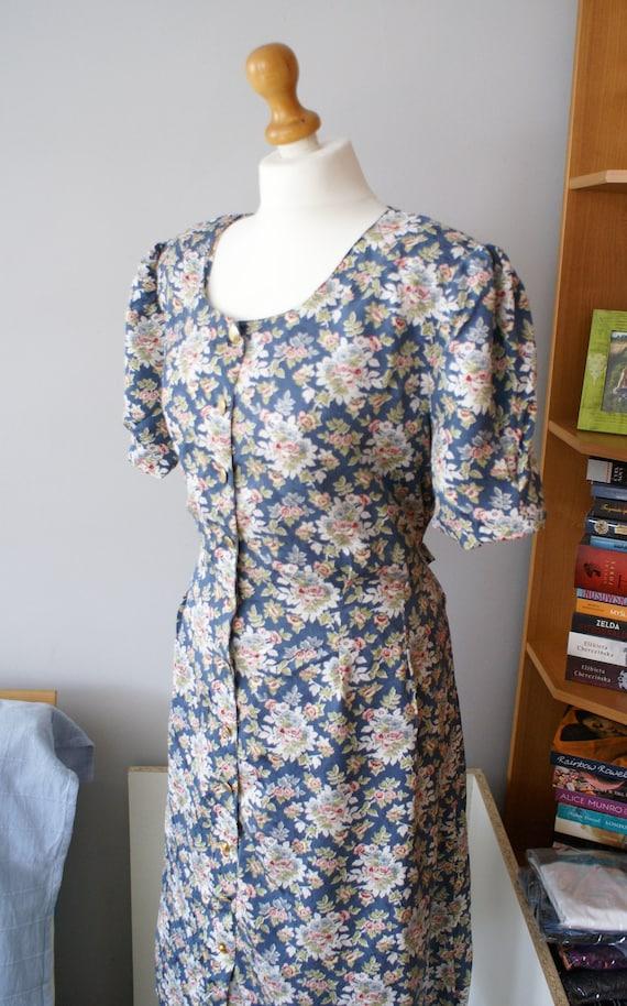 Vintage Pure Silk Dress, Vintage Maxi dress, 80s F