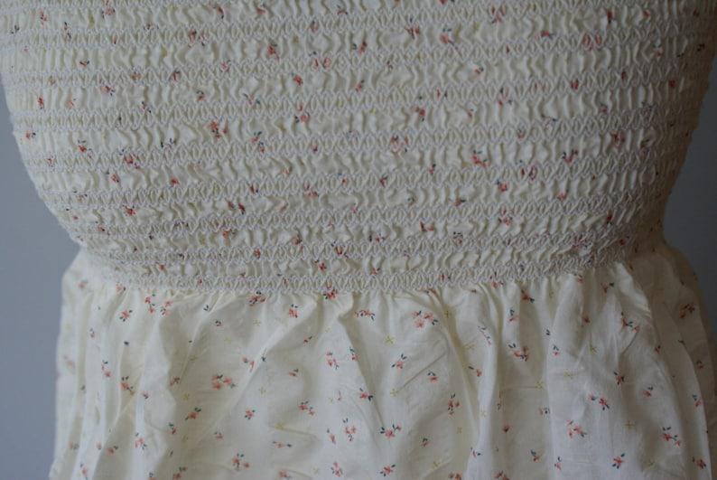 Summer Cream Top Cotton blouse Delicate Romantic Summer blouse in roses Sleeveles summer top Clothing for her Delicate Cream blouse