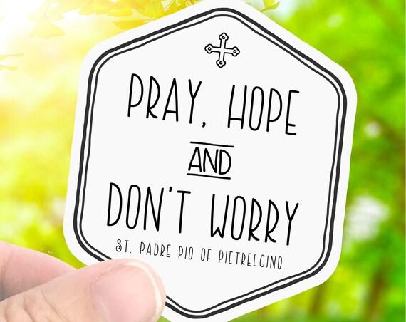 Catholic Saint Sticker Decal - St. Padre Pio - Laptop Decal Sticker - Water Bottle Sticker