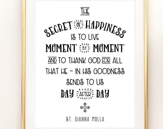 St. Gianna Molla Art Print - 11x14 Catholic Saint Art Print - Catholic Printable, Catholic Art, PDF Download, Catholic Saint Quote