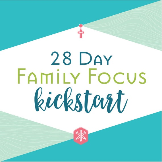 28 Day Family Focus Kickstart - Catholic Planner, Routine, System, Block Schedule, Prayer Planner