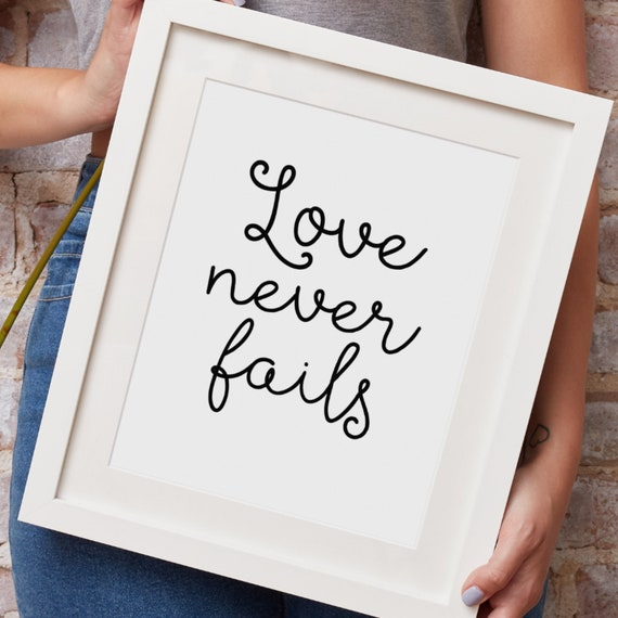 Love Never Fails Prayer Print - Catholic Prayer Printable Christian Print PDF Download