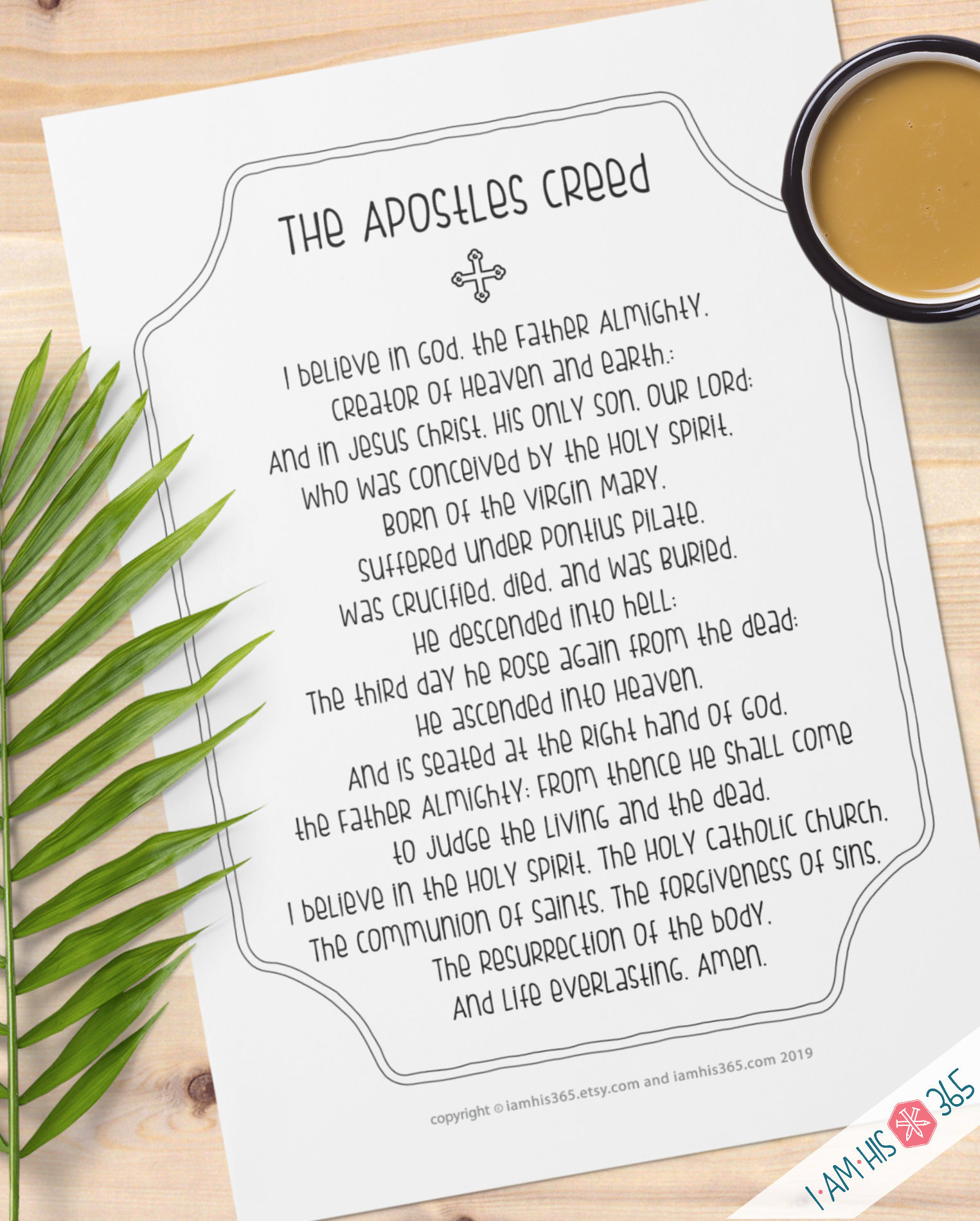 It is a photo of Unforgettable Printable Apostles Creed