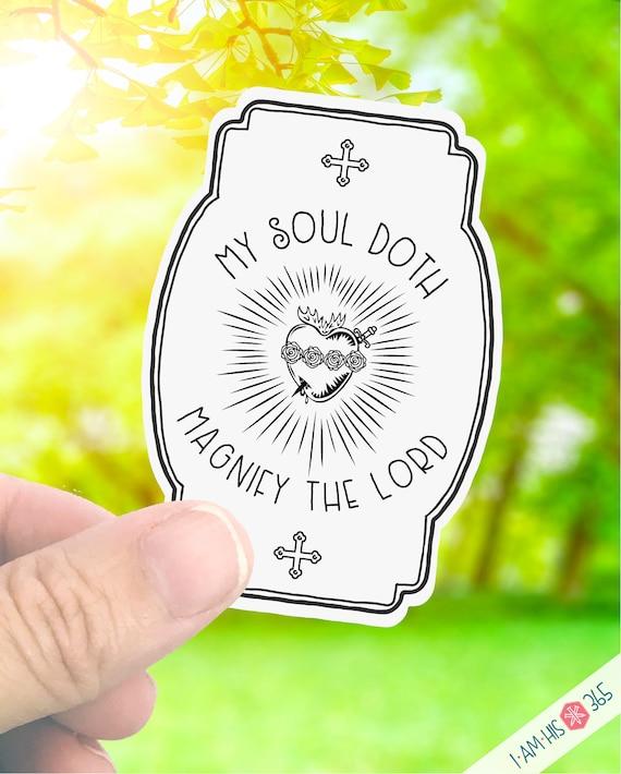 Catholic Immaculate Heart Sticker Decal - Faith Sticker - Laptop Decal - Water Bottle Sticker
