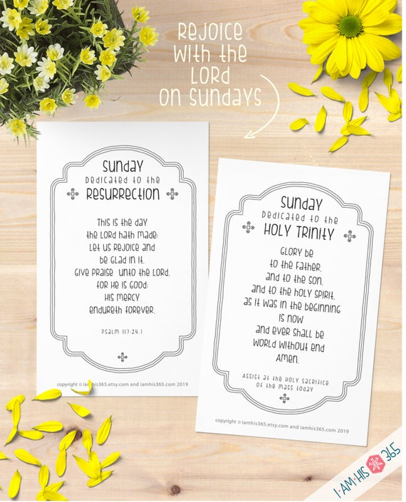 Printable Catholic Prayer Cards for Each Day of the Week Set of 14 - Printable Catholic Prayers, Daily Devotions, Catechism, homeschool