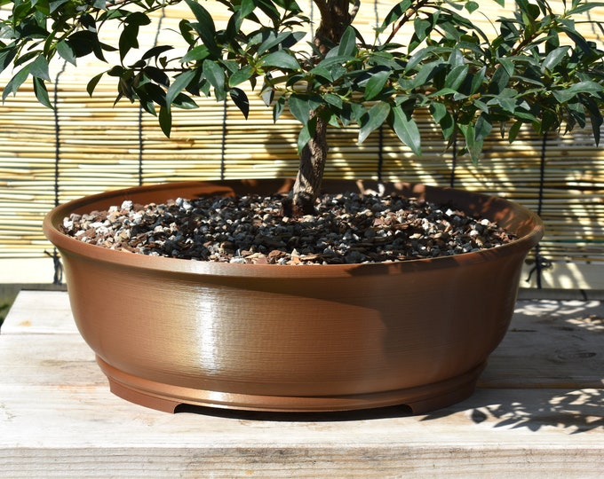 """Featured listing image: 15"""" Oval Bonsai Pot & Fitted Meshes   Deep Profile   22 colors   Indoors or Out"""
