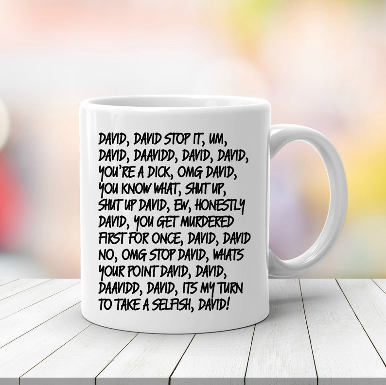 David Rose Schitt's Creek Coffee Mug