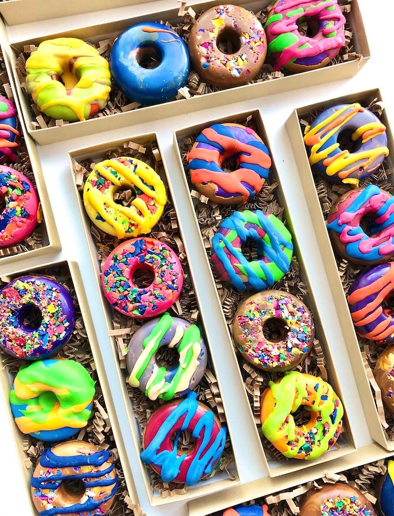 BIRTHDAY Donut Crayon Gift for Kids Donut Crayon Set Set of image 0