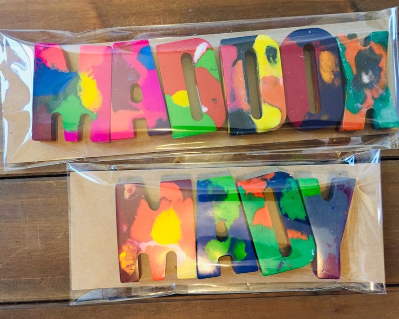 Personalized Name Crayons in Clear Packaging Valentine Gift Kids Kids Crayon Gift Birthday Kids Crayon Custom NAME Crayons for Kids