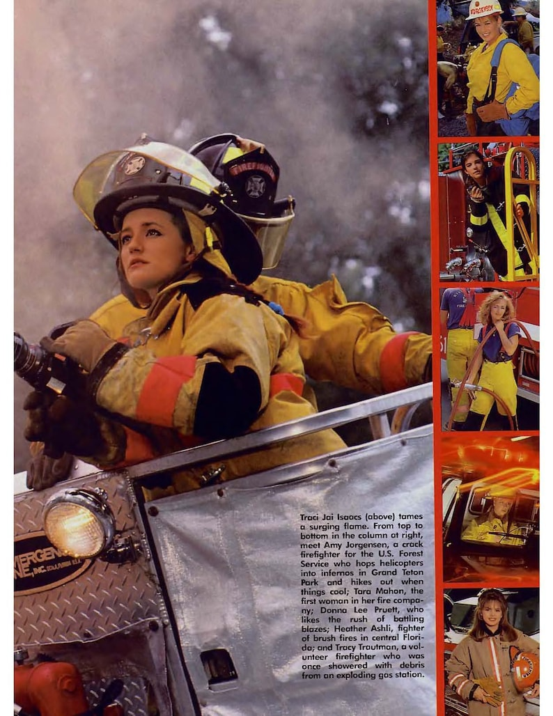 Nude Female Firefighters Playboy Photos Vintage Wall Art