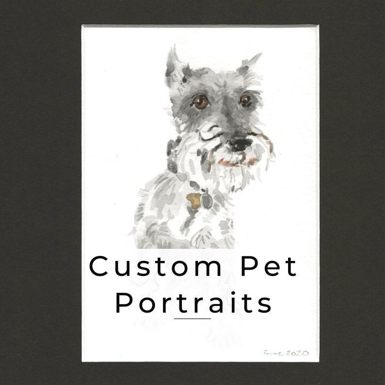 Custom Pet Portraits in Watercolor image 0