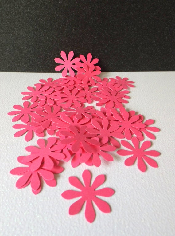 20 Pink Flower Embellishments Scrapbooking Card Making Party Table Decorations