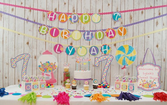 Candyland Party Confetti Candy Birthday Decorations