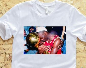 d0a6918de9c6cf Michael Jordan Celebration T-Shirt - Air Jordan Shirt - Jordan Championship  Shirt