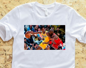 0eeca0a389d7b7 Kobe Bryant vs Michael Jordan T-Shirt - KB vs MJ Shirt