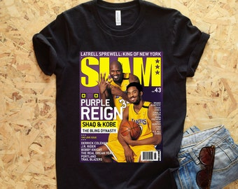 1f4aaa2c6 Shaq   Kobe SLAM Cover T-Shirt - Lakers Shirt