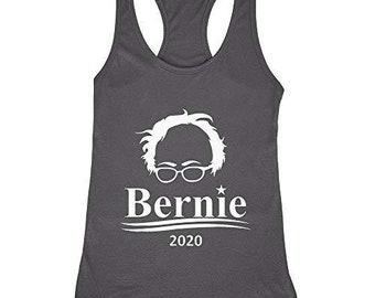 Bernie Sanders 2020 Women/'s Premium Word Art Flowy Tank Top