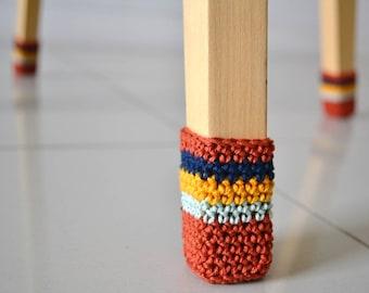 Chair Socks crochet pattern PDF, crochet chair cover easy colorful crochet PDF pattern, chair leg warmers home decor crochet pattern