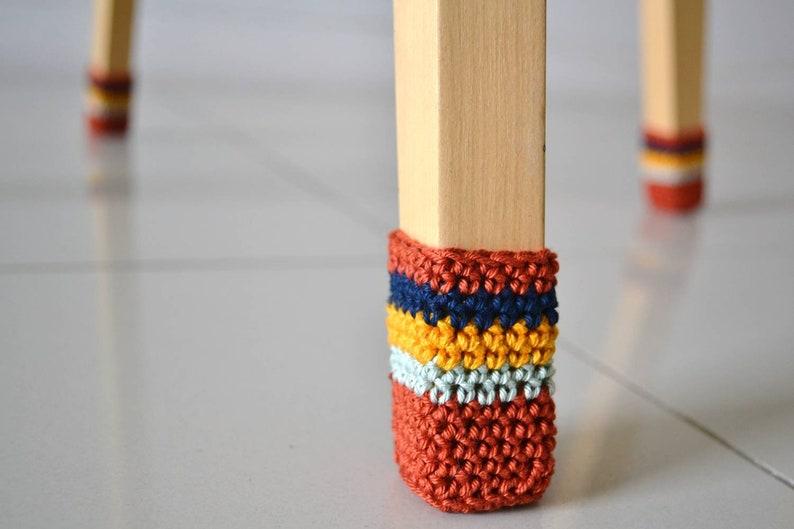Chair Socks crochet pattern PDF crochet chair cover easy image 0