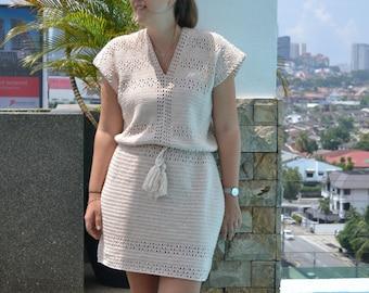 Beginner crochet dress pattern, crochet lace dress, boho crochet dress, crochet dress woman pattern, summer dress pattern, easy crochet
