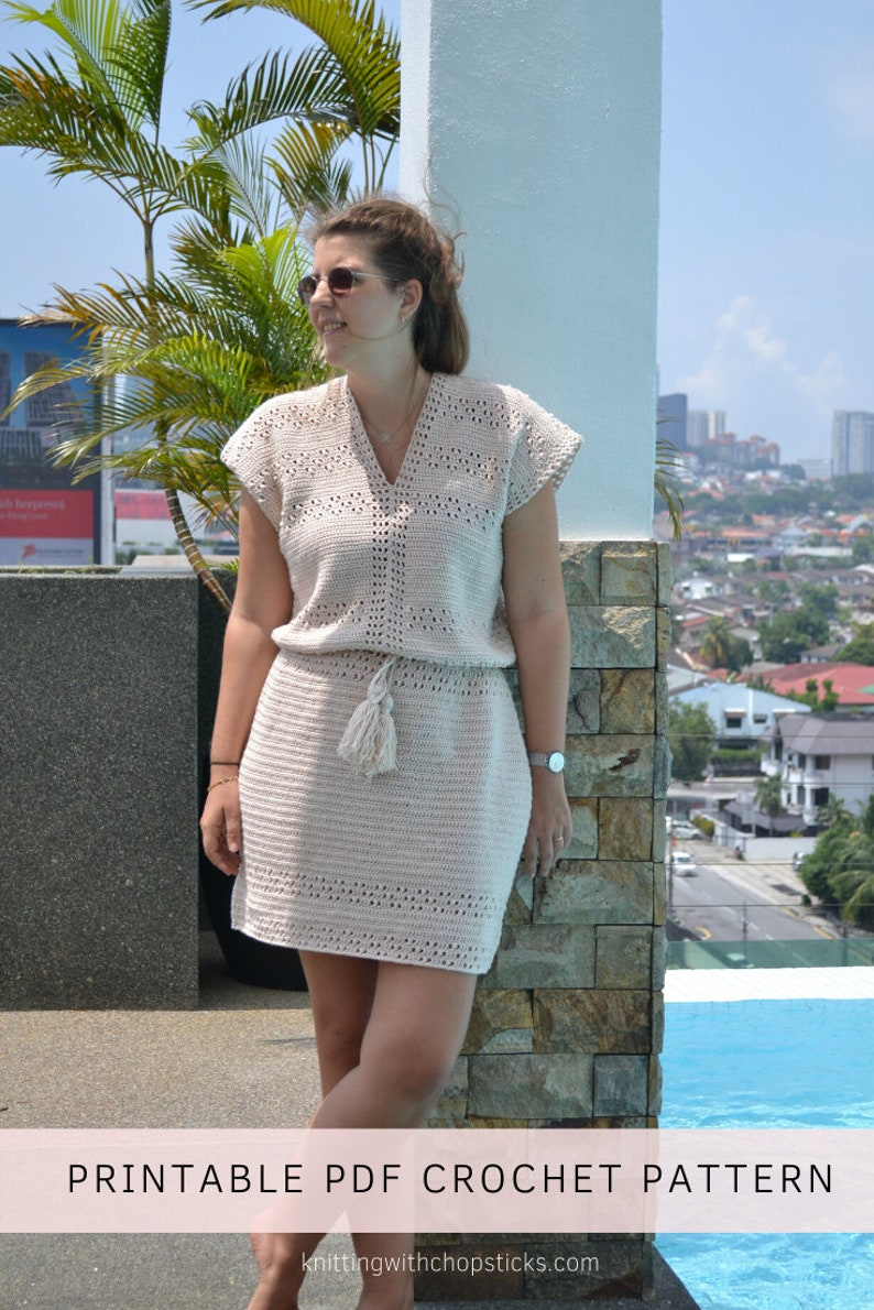 Beginner crochet dress pattern crochet lace dress boho image 0