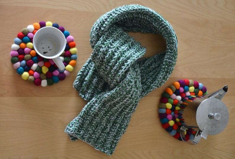 Beginner Scarf Knitting Pattern Pdf Diy Gift Knit Pattern For Etsy