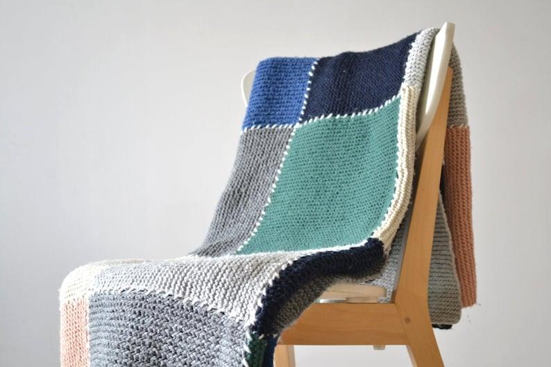 DIY easy blanket knitting pattern knit throw pattern photo image 0