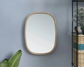 MIANZI MIRA SQUIRCLE Circle Mirror Bamboo Handmade Bohemian Minimal Round Large Decorative Wall Mirror Bathroom Living Dresser Bedroom