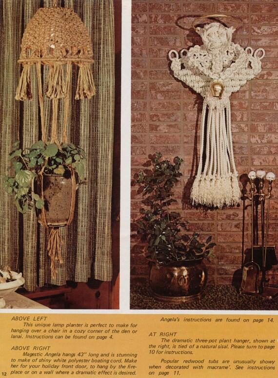 Vintage Macrame Hanging Plant Pattern 5 in 1 Decorative Macrame Pattern Macrame Pattern Superb Decoration room Old Pattern Macrame