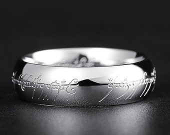 Silver Lord of The Rings One Ring