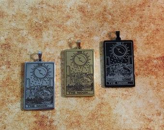 The Moon - Tarot Card Pendant Necklace
