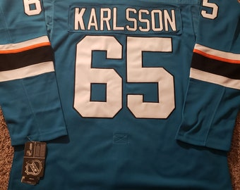 Erik Karlsson  65 San Jose Sharks Home Jersey 721153c32